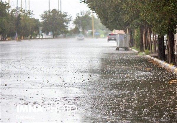 چتر باران بر سر آسمان اصفهان گسترده میشود