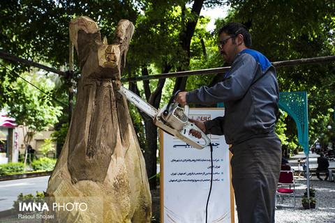 نقش زندگی بر تنه درختان خشکیده باغبادران