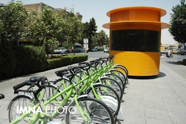 رونمایی از ایستگاههای جدید دوچرخه در شهر اصفهان