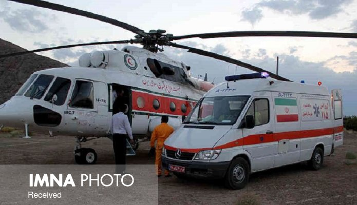 اعزام اورژانس هوایی برای انتقال ۳ کودک آسیب دیده به بیمارستان الزهرا