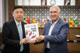 دیدار رییس روابط بین الملل شهرداری شیان چین با شهردار اصفهان