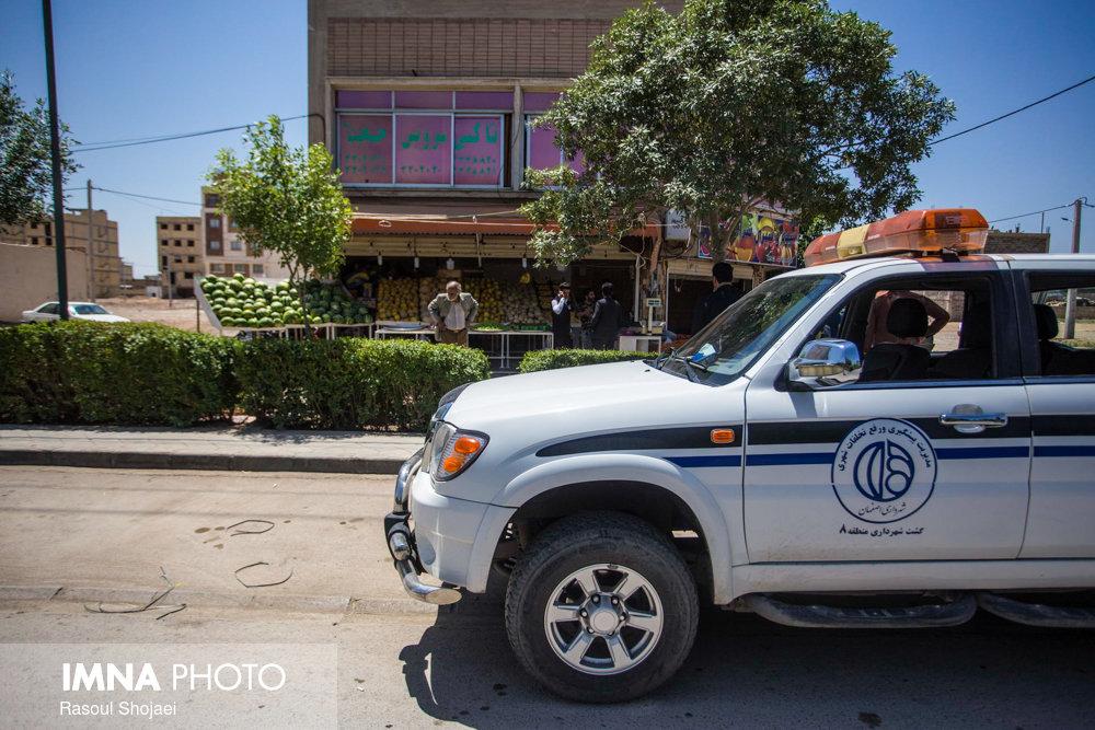 ۱۵ اکیپ ضربتی تخلفات شهری ۱۵ منطقه را رصد میکنند