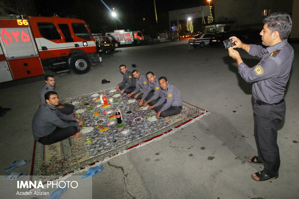 Iftar Time with Firefighters