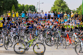 Let's ride bicycles campaign in Isfahan