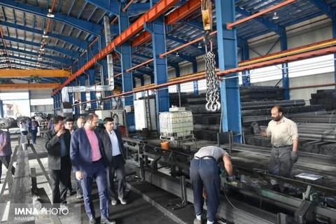 بازدید از شهرک صنعتی فولاد