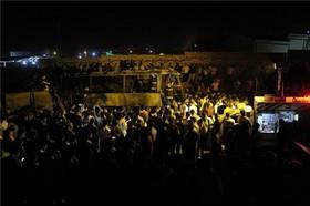 تصادف اتوبوس با تانکر نفت/آمار متناقض کشتهشدگان/ ۳روز عزای عمومی