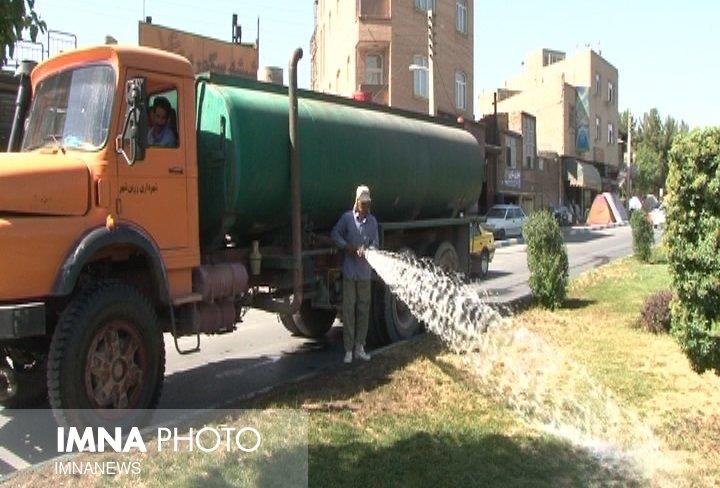 بحران کمبود آب در فضای سبز شهری مشگین شهر