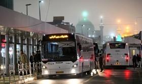 خدماترسانی شبانه اتوبوسهای شهری مشهد به زائران