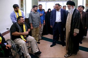 رهبرانقلاب با جانبازان حزبالله لبنان دیدارکردند