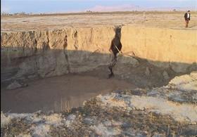 فرونشست ۵۵ میلی متری شرق اصفهان