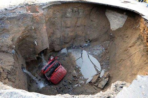 Land subsidence sinking Iran