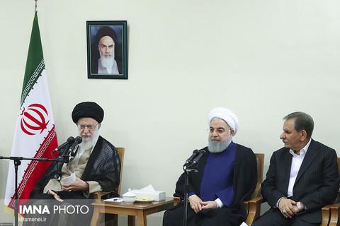دیدار رئیسجمهور و اعضای هیئت دولت با حضرت آیتالله خامنهای رهبر معظم انقلاب اسلامی