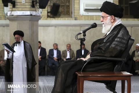 دیدار کارگزاران حج با حضرت آیت الله خامنه ای رهبر معظم انقلاب اسلامی