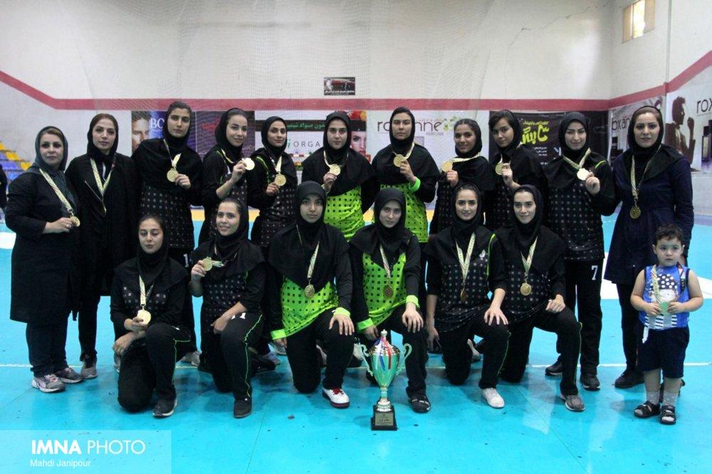 Championship of Isfahan's women handball team