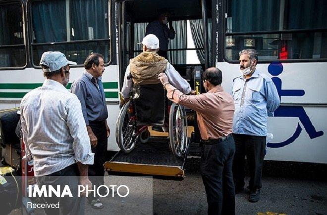 استفاده رایگان معلولان و جانبازان از اتوبوسهای شهری