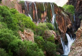 Niasar waterfall; Green jewel of Kashan