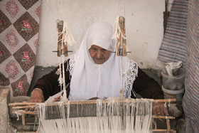 Traditional weaving - sofreh; heritage of old women