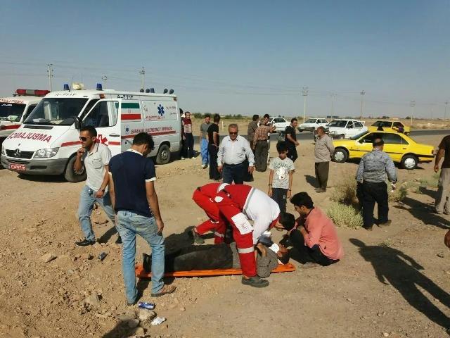 تصادف زنجیرهای محور نطنز - کاشان یک کشته و ۱۴ مصدوم داشت