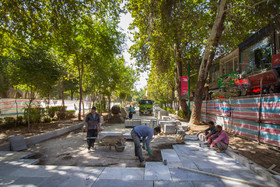 Chahar Bagh pavement project in progress