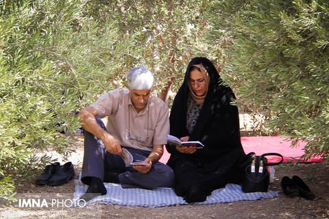 دعای عرفه در باغ رضوان