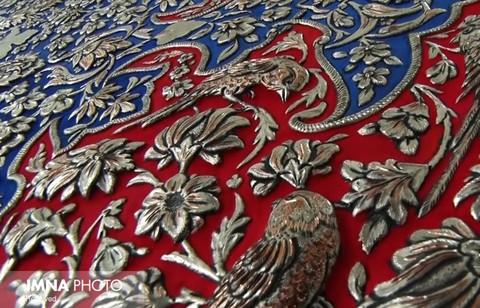 Unique art of Isfahan; Combination of toreutics and carpet weaving