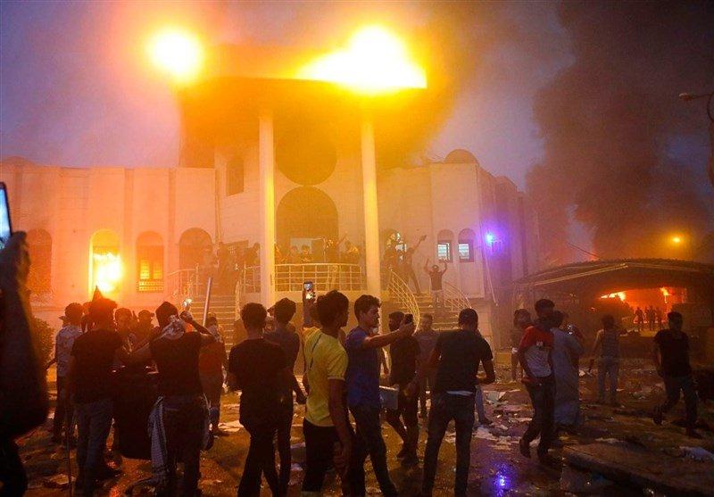 اهانت به کنسولگری ایران در کربلا + فیلم