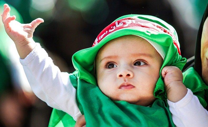 همایش شیرخوراگان حسینی؛ صف آرایی سربازان گهواره نشین است