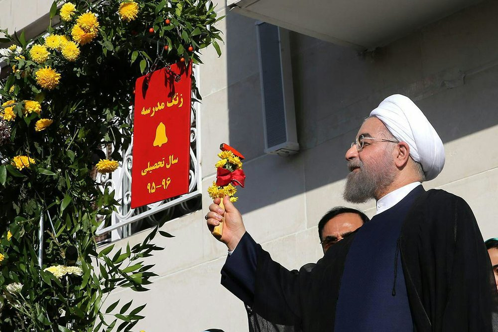 افتتاح همزمان ۵۹ مدرسه در کرمانشاه از سوی رییس جمهور