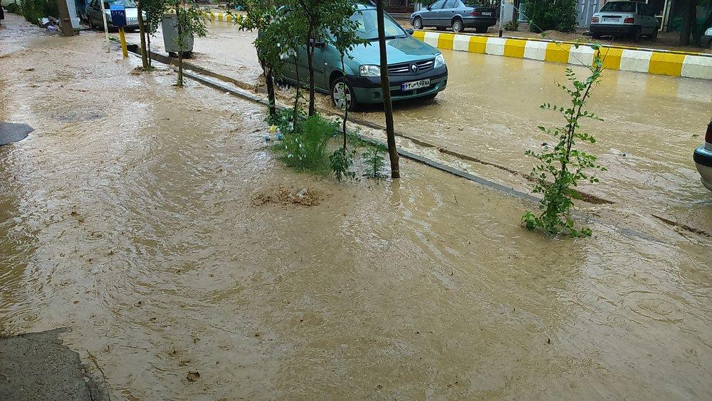 خسارت سیلاب به تاسیسات شهری خلخال