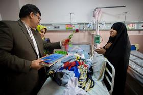 بازدید دکتر عیدی از بیمارستان کودکان امام حسین به مناسبت روز جهانی کودک