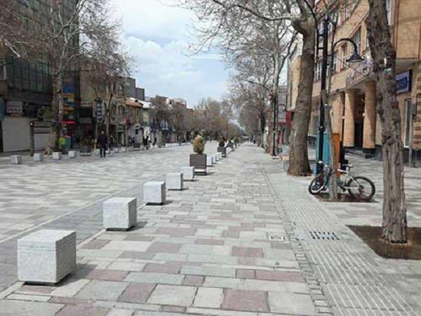 پیادهراه مدرس به طول ۱۸۰۰ متر در کرمانشاه اجرایی میشود