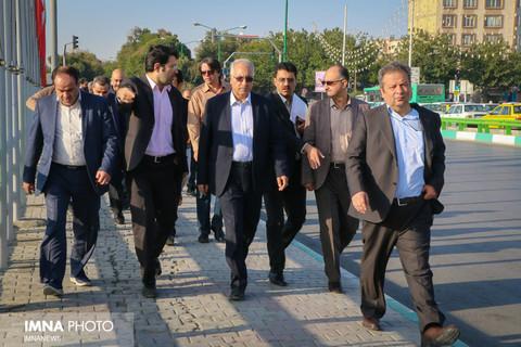 بازدید شهردار از روند اجرایی خط دو مترو