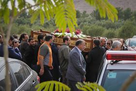 مراسم تشییع جانباز احمد خالقی
