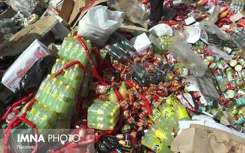 کشف بیش از ۲۰۰ کیلو مواد غذایی فاسد در شهرضا