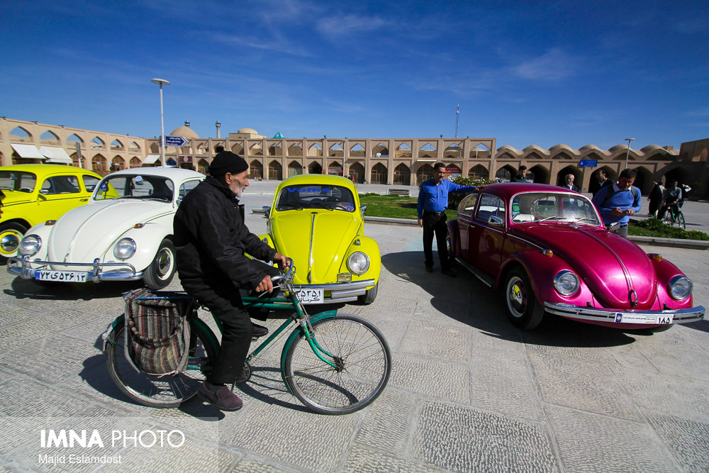 Iconic German cars on parade in Isfahan