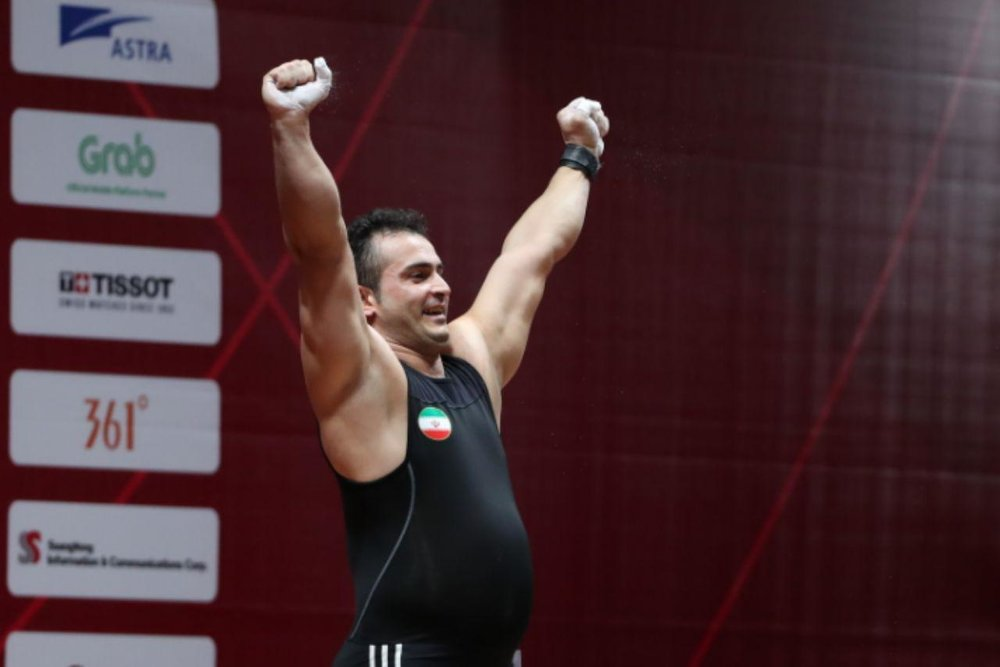 رکورد ۳۷۰ کیلوگرمی سهراب مرادی در مسابقات غرب آسیا