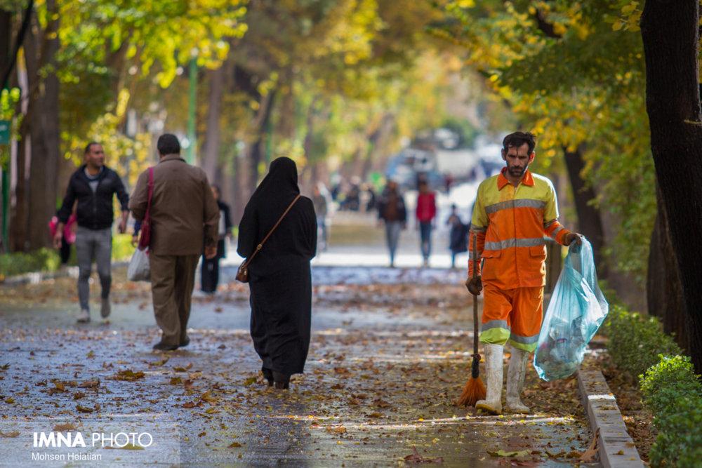 جو آرامِ اصفهان/افزایش ۵۴ درصدی بارشهای پاییزی