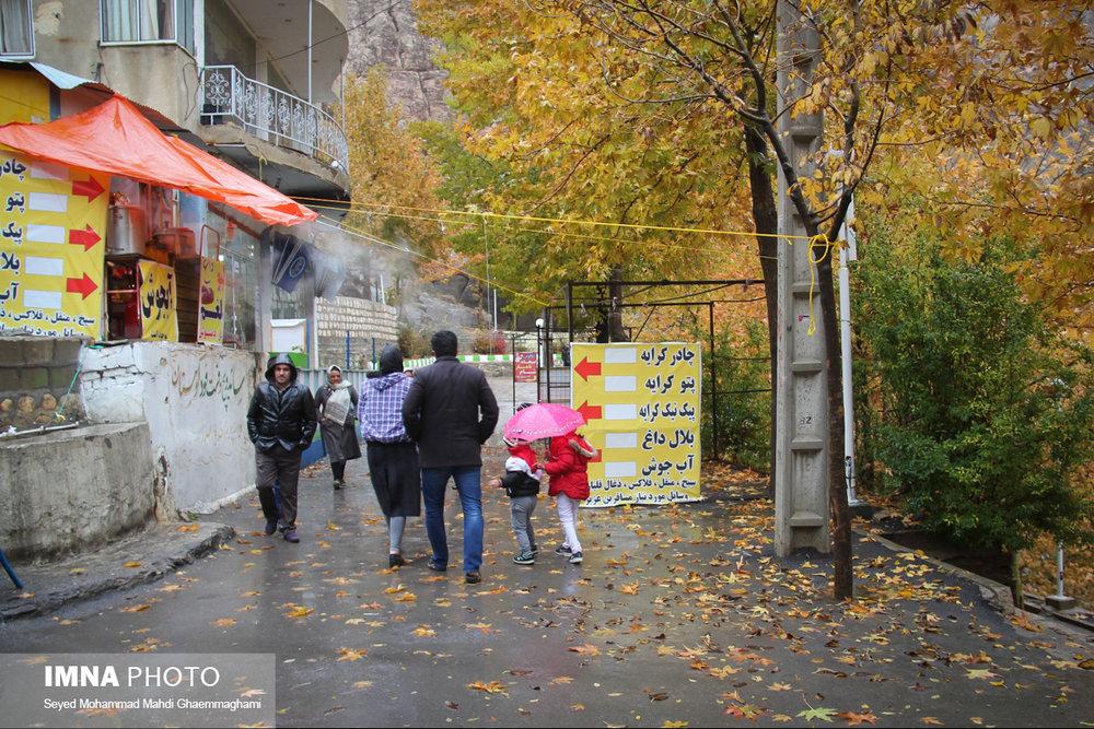 تداوم بارش های پاییزی در غرب اصفهان