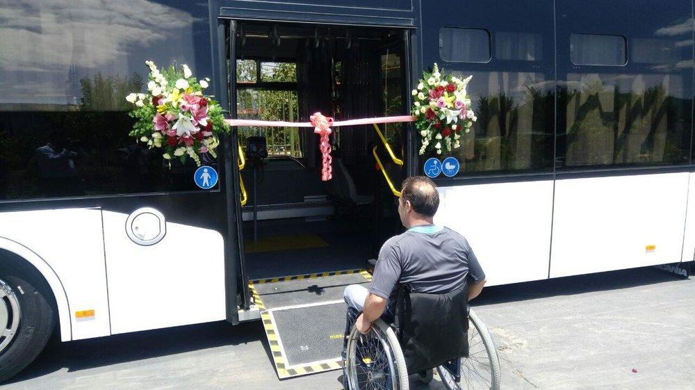 مظفر: اتوبوسهای جدید  اصفهان دارای «جک مکانیکی رمپ معلولان» است