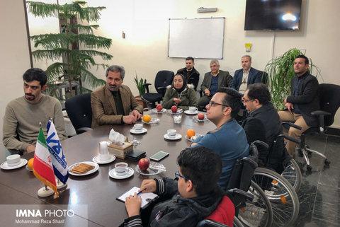 بازدید جمعی از خبرنگاران توانخواه از خبرگزاری ایمنا