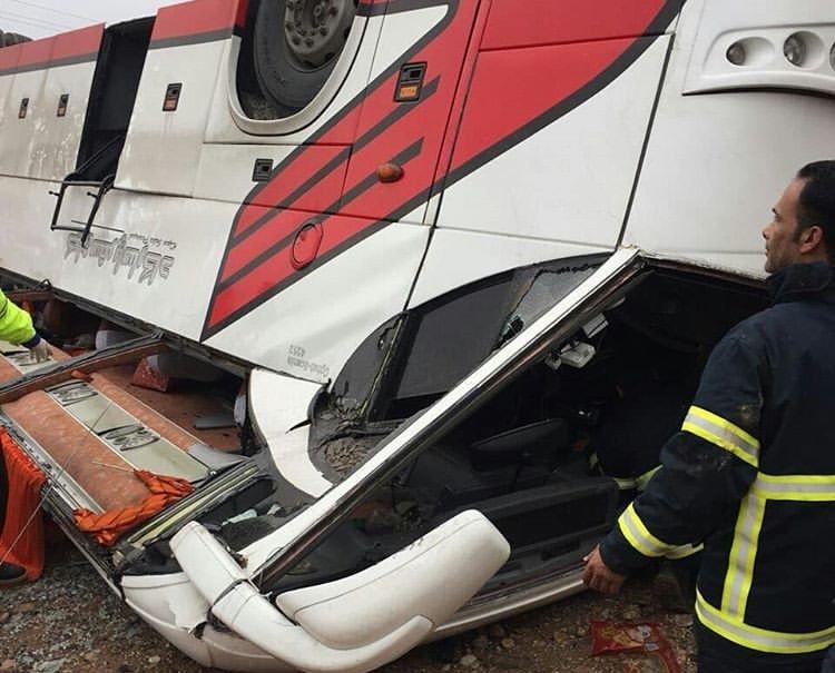 واژگونی اتوبوس تهران - مشهد 41 کشته و زخمی برجای گذاشت