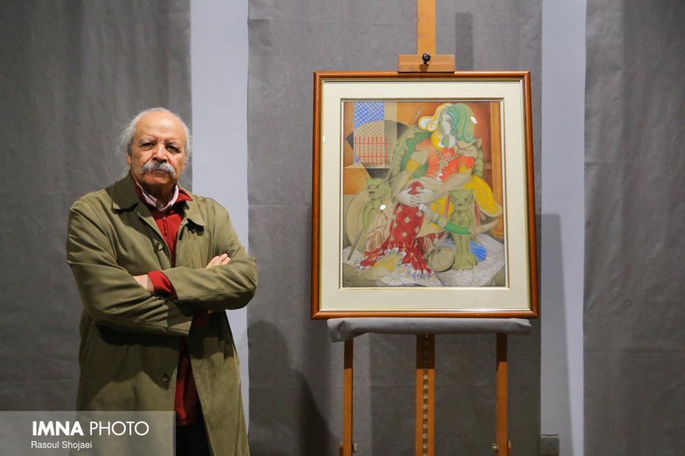 اهدای سومین اثر نقاشی جهانگیر شهدادی به موزه هنر های معاصر اصفهان