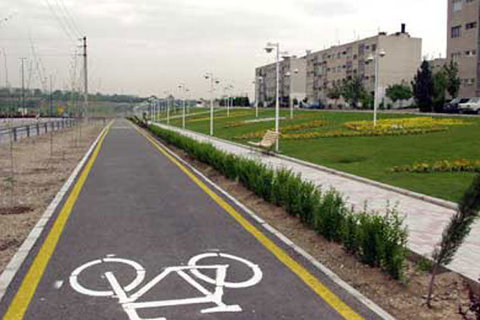 توسعه مسیرهای دوچرخه در تهران