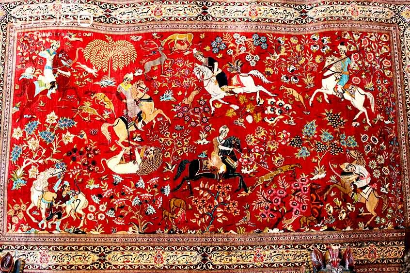 No handmade Persian carpet in market!