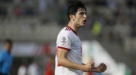 پیروزی پر گل ایران برابر کامبوج در پایان نیمه نخست