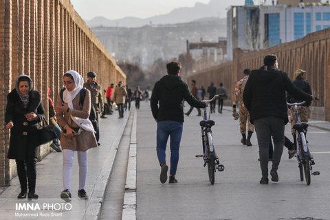"""شاخص کیفی هوای اصفهان """"قابل قبول"""" است"""