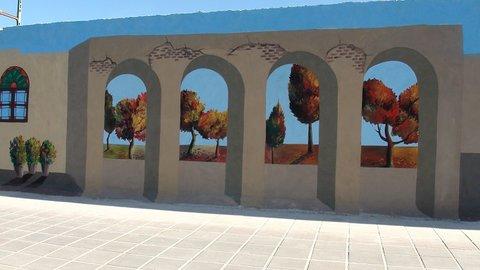 اجرای ۳۸۰۰ متر مربع نقاشی دیواری در آستارا