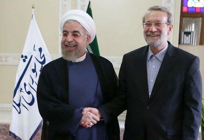 روحانی از مدیریت خوب دوازده ساله لاریجانی در سه دوره مجلس تقدیر کرد