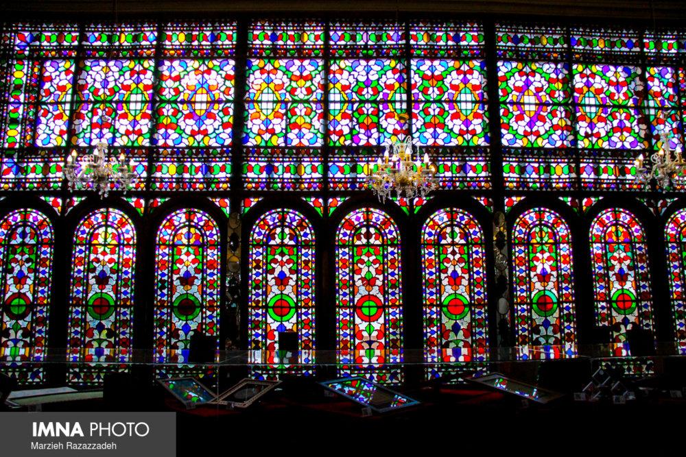 Historical Moshir al molk Ansari house shining in Isfahan