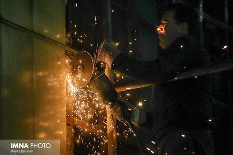 عملیات ترمیم و بهسازی تونل شهید آقاخانی